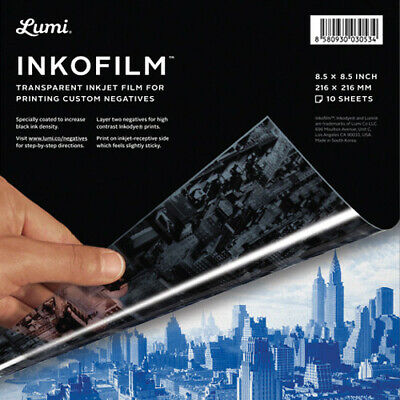 Lumi Inkofilm Transparent Inkjet Film 8.5in. X 8.5in. 10 Sheet Pack