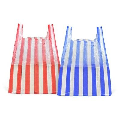 5000 x Striped Vest Carrier bags 11x17x21