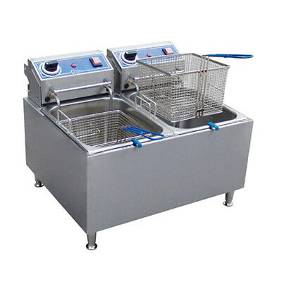 Globe Pf32e 32 Lb Oil Capacity Countertop Electric Fryer