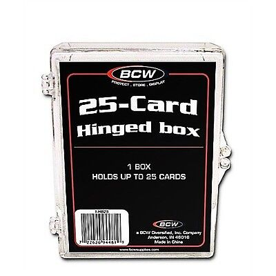 Plastic Hinged Boxes - (4) BCW 25 Count Hinged Plastic Baseball Trading Card Boxes protector hinge box