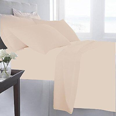 NEW CGK Unlimited 6-Pk Hotel Luxury Bed Sheets - Beige - Siz
