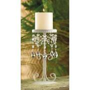 Crystal Pillar Candle Holder