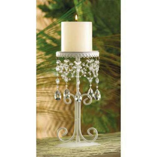 Crystal Pillar Candle Holder | eBay