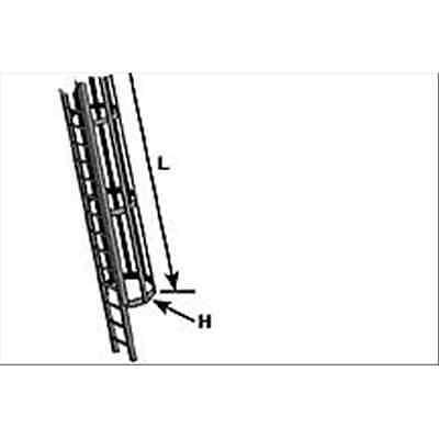 PS-CL-16 - Plastruct: scaletta con gabbia di sicurezza in ABS; scala G (1:24) mm