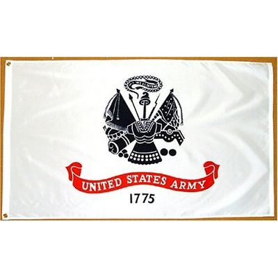 3x5 ft US ARMY OFFICIAL MILITARY INSIGNIA FLAG Outdoor Nylon Made in USA