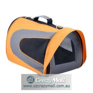 Dog Cat Portable Folding Travel Bag XL/L Orange/Green
