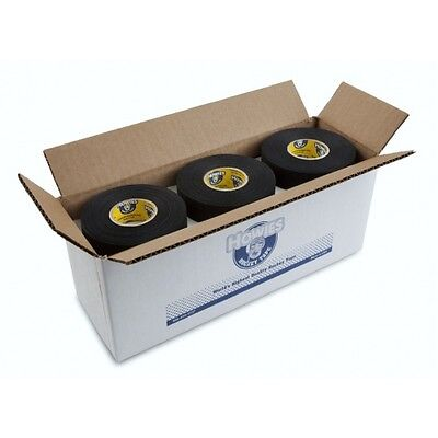 "Bulk Hockey Tape - 12 Rolls of Black Howies Cloth Hockey Stick Tape 1""X25 yds"