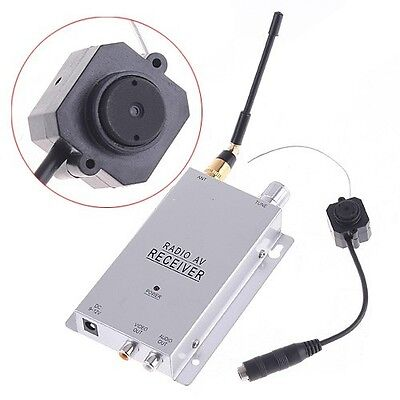 NEW DIY Wireless Mini Spy Nanny Pinhole Security Camera System 1.2GHz Receiver on Rummage