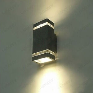led outdoor wall sconce up down light fixture garage gate lamp blubs