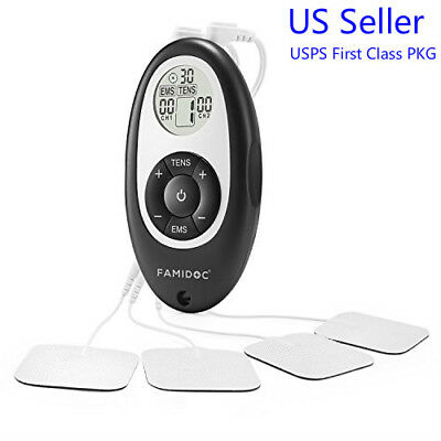 Electronic Stimulation Massage Tens Ems Unit Machine Muscle Therapy Pain Relief