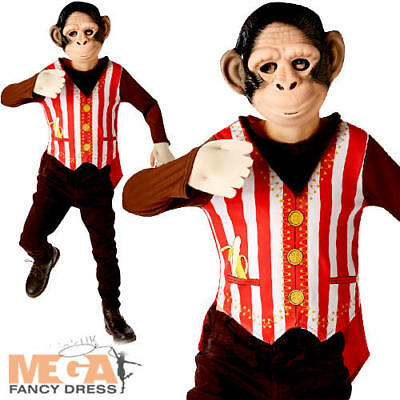 y Fancy Dress Boys Circus World Book Day Kids Animal Costume (Curious George Kostüme)