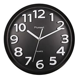 Large Number Wall Clock, 13 Silent With Numbers And Non-ticking Digital, Modern