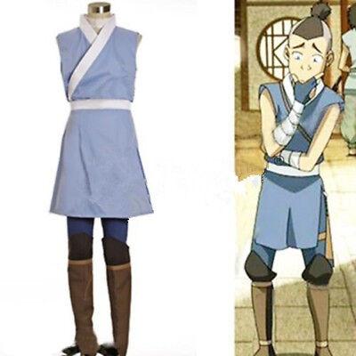 Custom Made Avatar The Last Airbender Costume Adult Sokka Halloween Cosplay Cost (Airbender Halloween Costume)