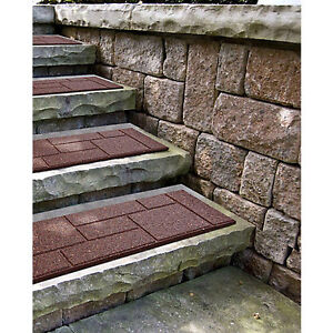"90-RUBBER COBBLESTONE STAIR TREADS- 10""X24""AND 18""X18"" LONG."
