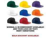 Personalised Snapbacks/Hats Embroidery Fashion