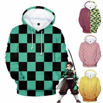 Demon Slayer Kimetsu no Yaiba 3D Hoodies Boy/Girl Pullover Coat Sweatershirt - Demon Girl Kostüm