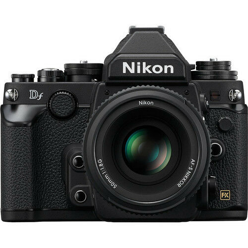 Nikon 16.2 Megapixel Digital SLR Camera (Body with Lens Kit) 50 mm Black Df