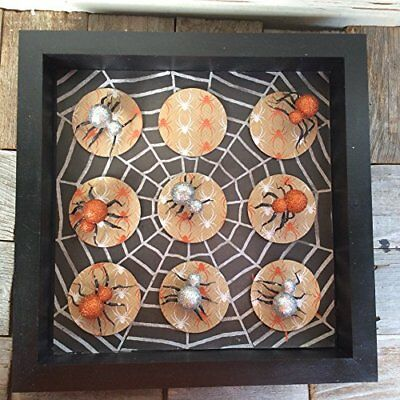 AGD Halloween Decor - Spider Tic Tac Toe Board Game - Tic Tac Toe Halloween Game