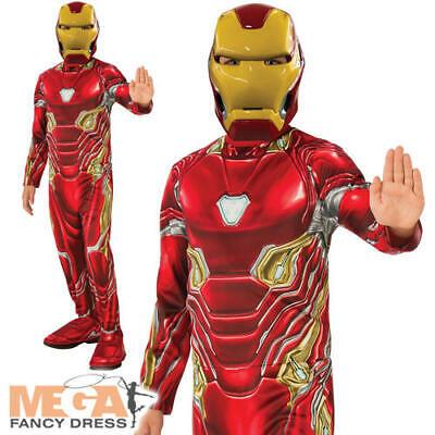 Iron Man Mark 50 Suit Boys Fancy Dress Avengers Endgame Superhero Kids Costume (Ironman Kid Kostüme)