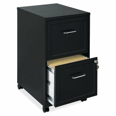 Lorell Soho 2-drawer Mobile File Cabinet 14.3w X 24.5h Black Llr16872