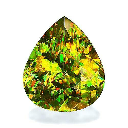 4.20CT ULTRA RARE FLASHING GREEN SPHENE / TITANITE 100% NATURAL EARTH MINED