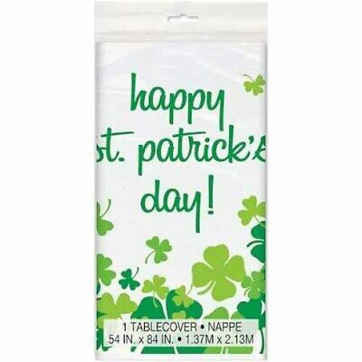 ST PATRICKS DAY Rainbow Shamrock PLASTIC TABLE COVER ~ Birthday Party Supplies