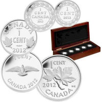 2012 Canada Fine Silver 5 Coin Set- Farewell To The Penny.