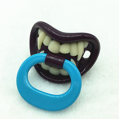 Baby Boy Girl Funny Novelty Dummy Baby Pacifier Vampire Tooth Nipple New Trendy