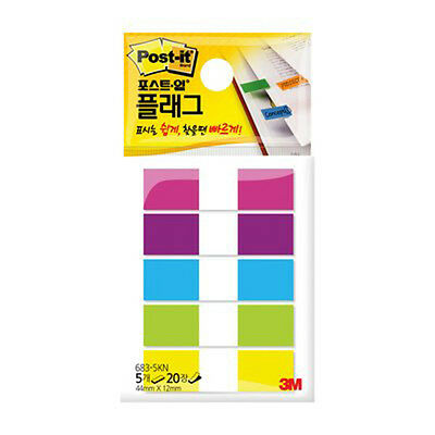 3m Post-it Flag 683-5kn 12mm44mm 1pack 100sheets Bookmark Point Sticky Note