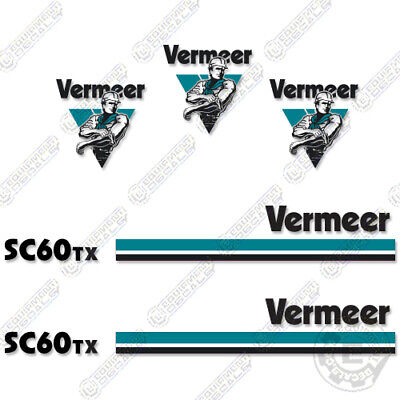Vermeer Sc 60 Tx Stump Grinder Decal Kit Sc60tx Straight Stripes