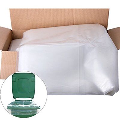 10 Pack Of Strong Heavy Duty Clear Refuse Rubbish Sack Liner Bags For Wheelie -