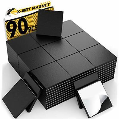 Magnetic Squares -flexible Magnetic Sheet Of 90 Self Adhesive Magnetic Original
