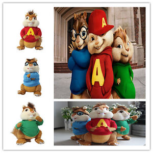 3pc /set Alvin and the chipmunk Theodore Simon Plush toy doll soft PP cotton 10