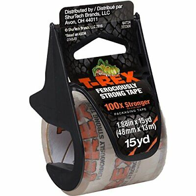 T-rex Clear Packing Tape With Dispenser 1.88 In. X 15 Yd. 284990