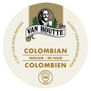 96 K-Cups: Van Houtte Colombian Medium!!!!!