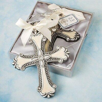 Decorative Cross Ornament Favor Wedding Reception Religious Baptism Bridal Party
