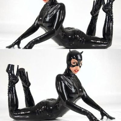 Women Uniform Leather Bodysuit Cat Costume BDSM Erotic Catsuits Latex - Cat Bodysuit Costume