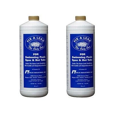 2 32oz Bottles Marlig Fix-A-Leak Pool and Spa Leak Sealer  (Spa Leak Sealer)