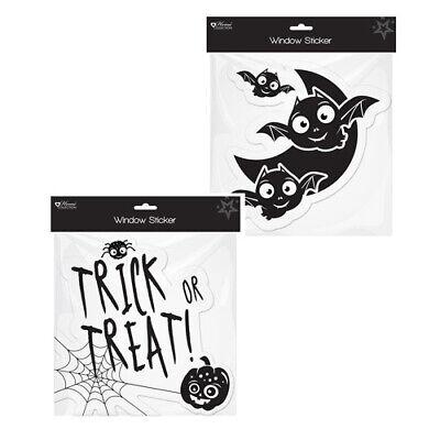 2 Halloween Fenster Sticker - Party Dekoration Fledermaus - Halloween Fenster Sticker