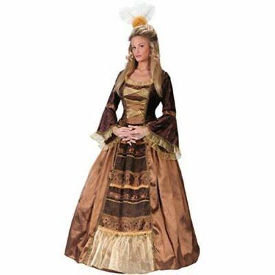 FunWorld Baroness Diamond Collection Brown/Gold RENAISSANCE Costume HALLOWEEN  M