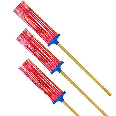 Fly Swatters Multi-Pack Heavy Duty - Long Bamboo Handle Plastic Fly Swatter E...