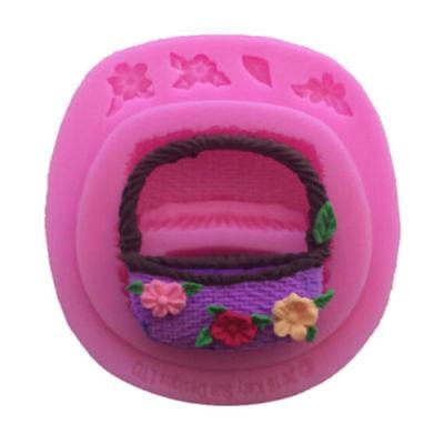 Creative Flower Basket Cake Mold Fondant Chocolate Cooking Molds Decor Hot QP ()