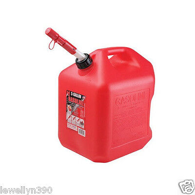 MIDWEST 5600 5 GALLON RED PLASTIC EPA COMPLIANT GAS FUEL CAN CONTAINER NEW ()