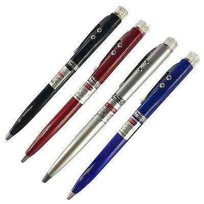 3 in 1 Red Laser Pointer + Ballpoint Pen + LED Flashlight Black Lamp Stunning