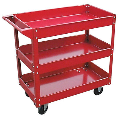 3 Tray Material Cart Transport Your Tools & Parts To The Job 3456