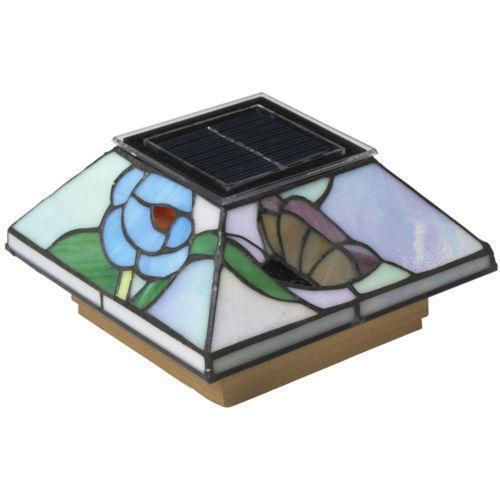 6x6 Copper Solar Post Cap Lights