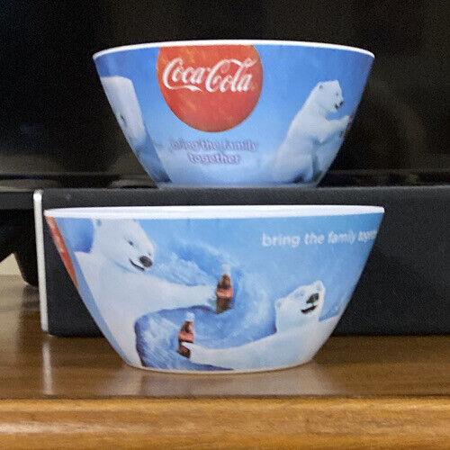Vintage Coca Cola Polar Bear Collector Bowls by Gibson-Melacore