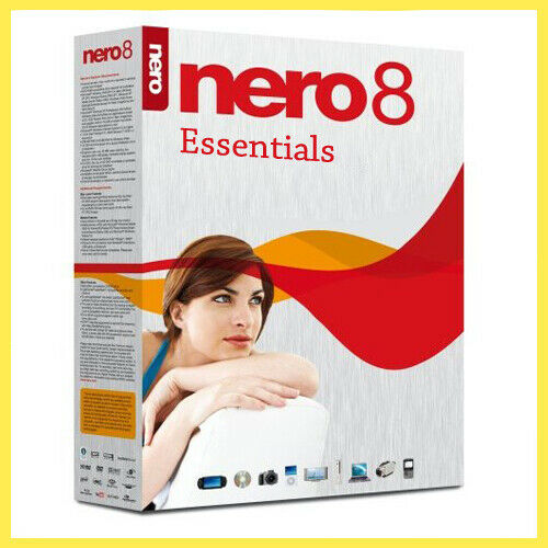 Nero 8 Essentials Full Version Software + Lifetime License Key for 3 Pc