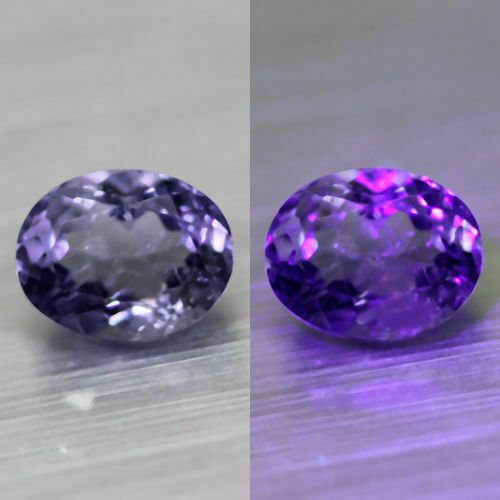 0.91cts VERY RARE HI-END TOP COLOR CHANGE 100% NATURAL PURPLE SCAPOLITE**