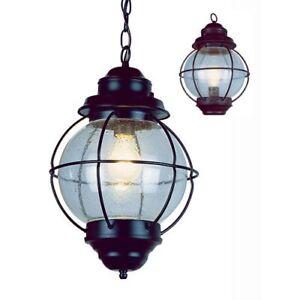 *New* Trans Globe Lighting  Hanging Lantern - Black